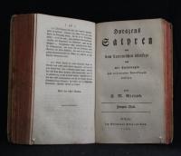 Satyren. - Horazens Satyren / aus dem Lateinischen übersetzt und mit Einleitungen und erläuternden Anmerkungen versehen von C. M. Wieland. - Th. 1.2