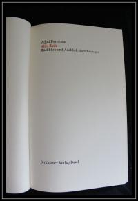 Alles fließt : Rückblick u. Ausblick e. Biologen / Adolf Portmann. [Die 8 farb. Holzschnitte stammen  von E. Keller-Venton]. - (Basler Drucke ; 22)