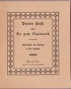 Doctor Faust oder: der große Negromantist : Schauspiel mit Gesang in fünf Aufzügen / [Gustav Friedrich Eugen von Below ; Geisselbrecht. Nachw. von Rudolf Frank]