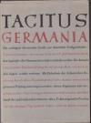 Handschriftliche Untersuchungen zu Tacitus Agricola und Germania : mit e. Photokopie des Codex Aesinas / Rudolf Till. - (Deutsches Ahnenerbe : Reihe B, Fachwissenschafltiche Untersuchungen ; 1)