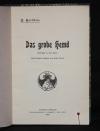 Das grobe Hemd : Volksstück in vier Acten / C. Karlweis. Umschlagzeichn. von Emil Orlik