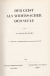 Der Geist als Widersacher der Seele. - 4., ungekürzte Studienausg.